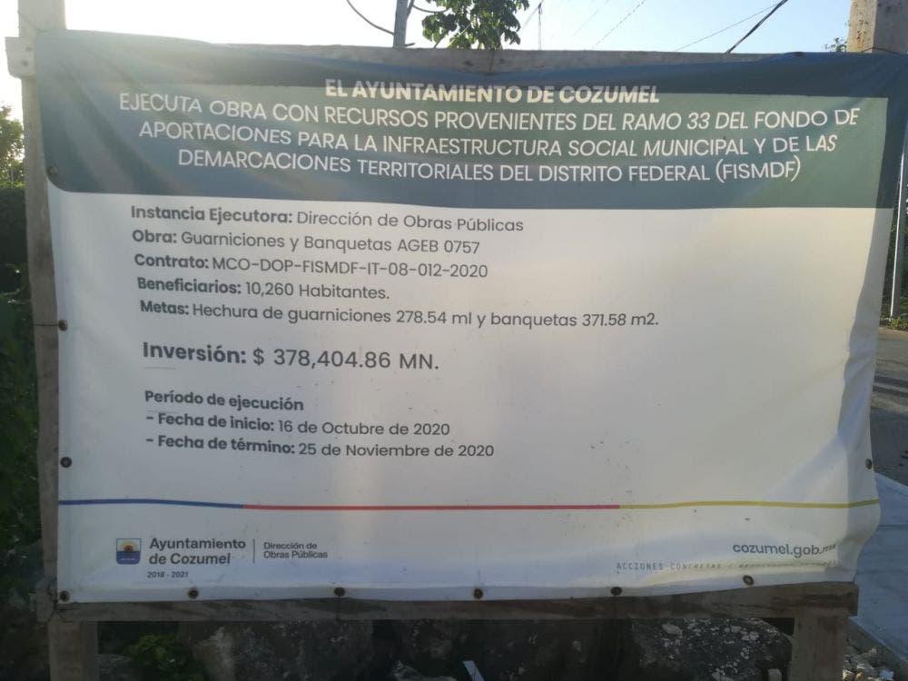 Incumple Pedro Joaquín con obras programadas de guarniciones