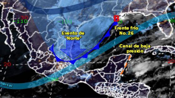 Clima: Pronostican lluvias fuertes para hoy en Quintana Roo.