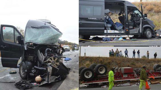 Dos muertos deja choque entre una Urban y un trailer