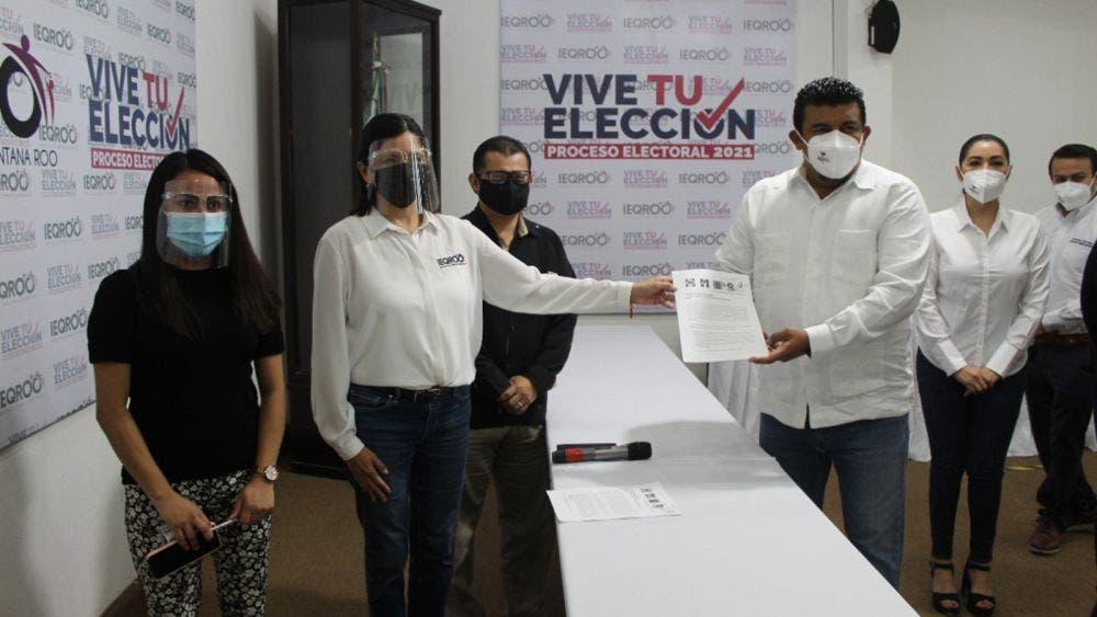 Formalizan alianza PRI, PAN, PRD y Confianza por Quintana Roo