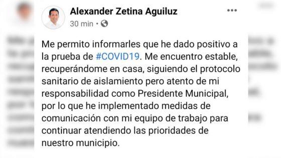 Da positivo a Covid-19 presidente municipal de Bacalar