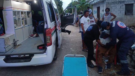 Sujeto manda al hospital a la pareja de su exmujer en Dzidzantún