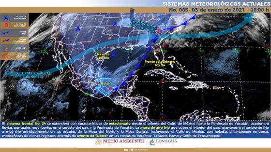 Clima: Se prevén lluvias fuertes para Quintana Roo.