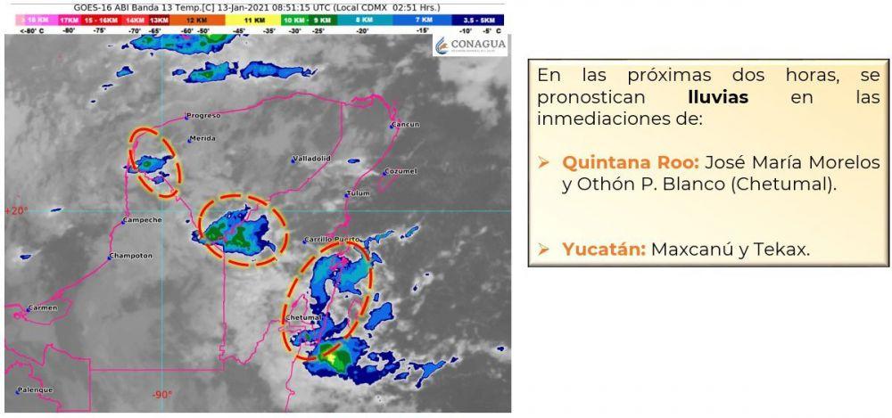 Clima: Se pronostican lluvias fuertes para Quintana Roo.