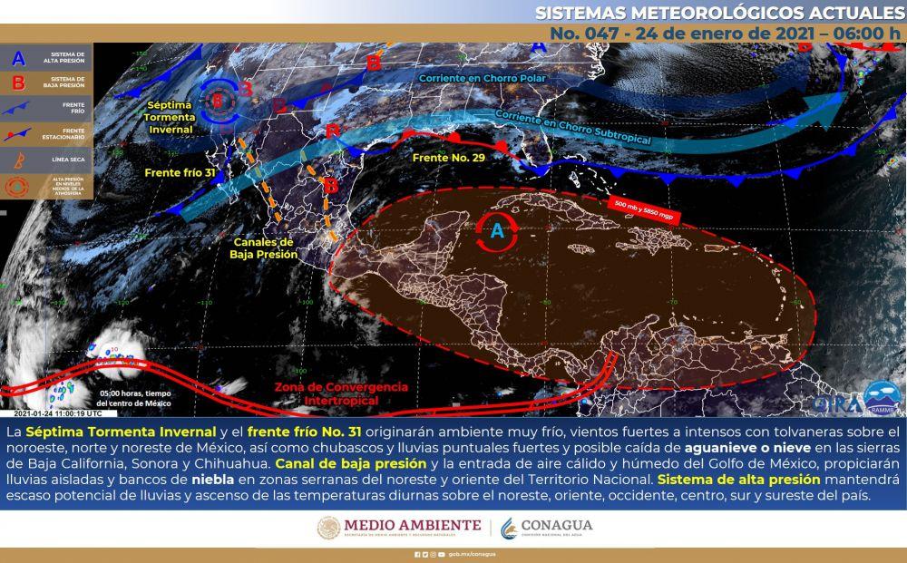 Pronóstico del clima para hoy domingo en Quintana Roo; incremento de nubosidad hacia la tarde y lluvias aisladas en el estado.