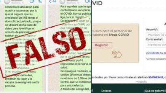 ¡Alerta Yucatán! Circula falso mensaje de registro para obtener vacuna del Covid-19