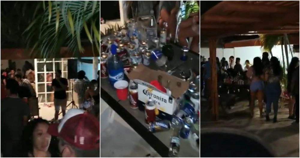 Jóvenes arman tremenda fiesta en Acapulco y les cae la policía