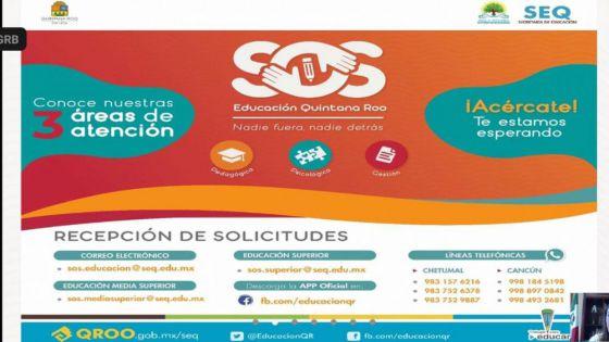 Preocupa a SEQ fuga de alumnado en Quintana Roo