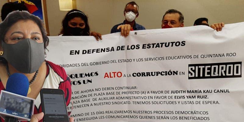 Destituyen y expulsan a dirigente del Siteqroo por corrupción.
