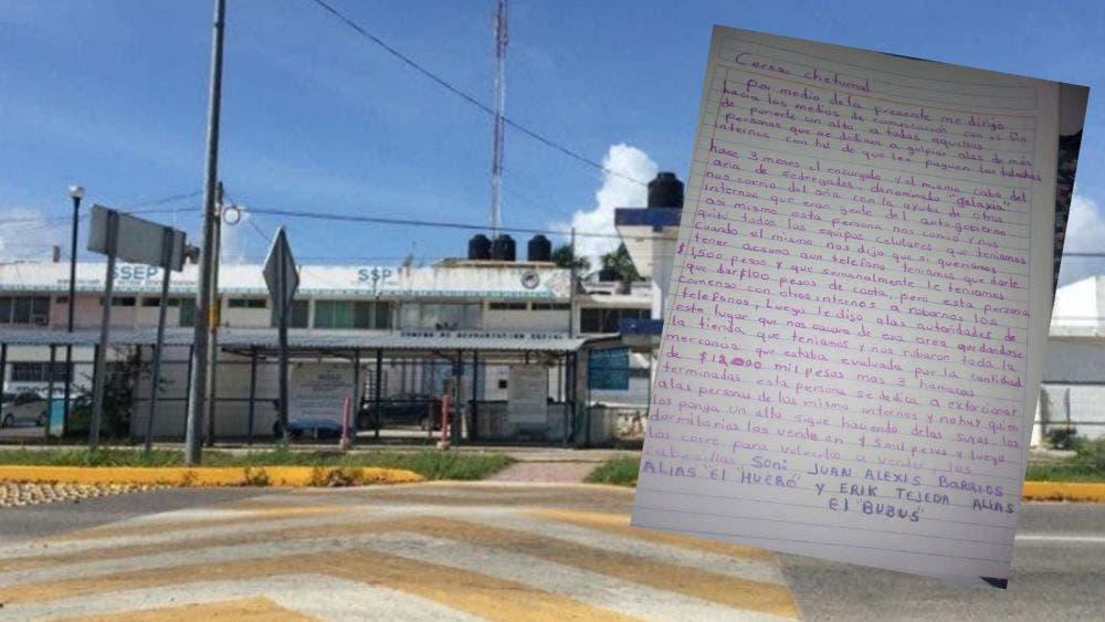 Denuncian abusos internos del Cereso de Chetumal
