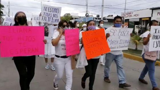 Con manifestación, exigen a la FGE localizar a María Méndez