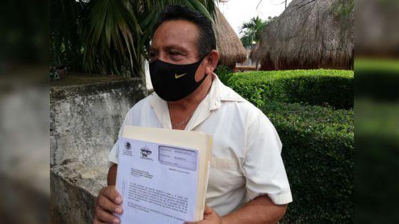Presenta licencia Octaviano Ku a su cargo municipal