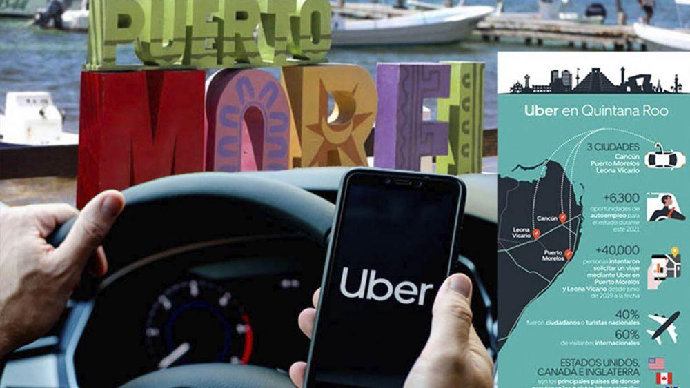 Anuncia Uber inicio de operaciones en Puerto Morelos y Leona Vicario