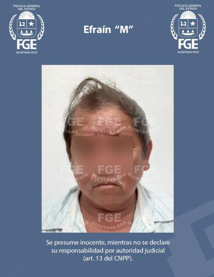 """Obligaba a su hija con discapacidad a prostituirse; la FGE capturó en Felipe Carrillo Puerto a Efraín """"M"""" acusado de trata de personas."""