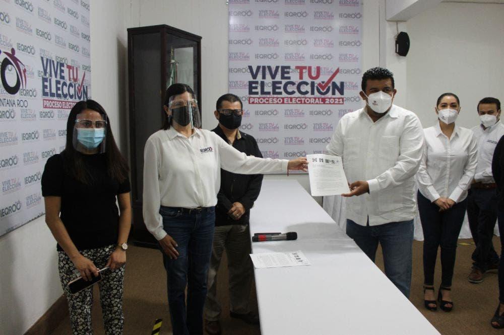 Registran alianza PAN, PRI, PRD y Confianza por Quintana Roo.