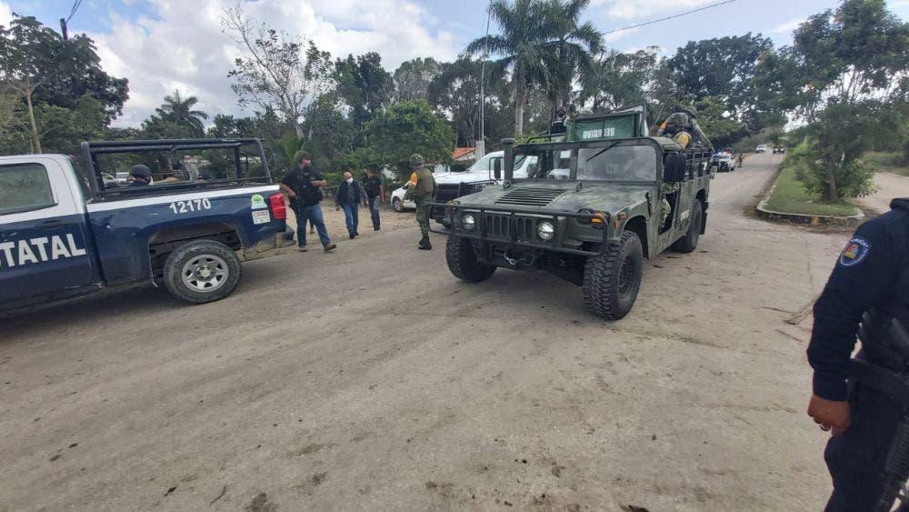 Gente de Capella los policías atacados en Sergio Butrón Casas.