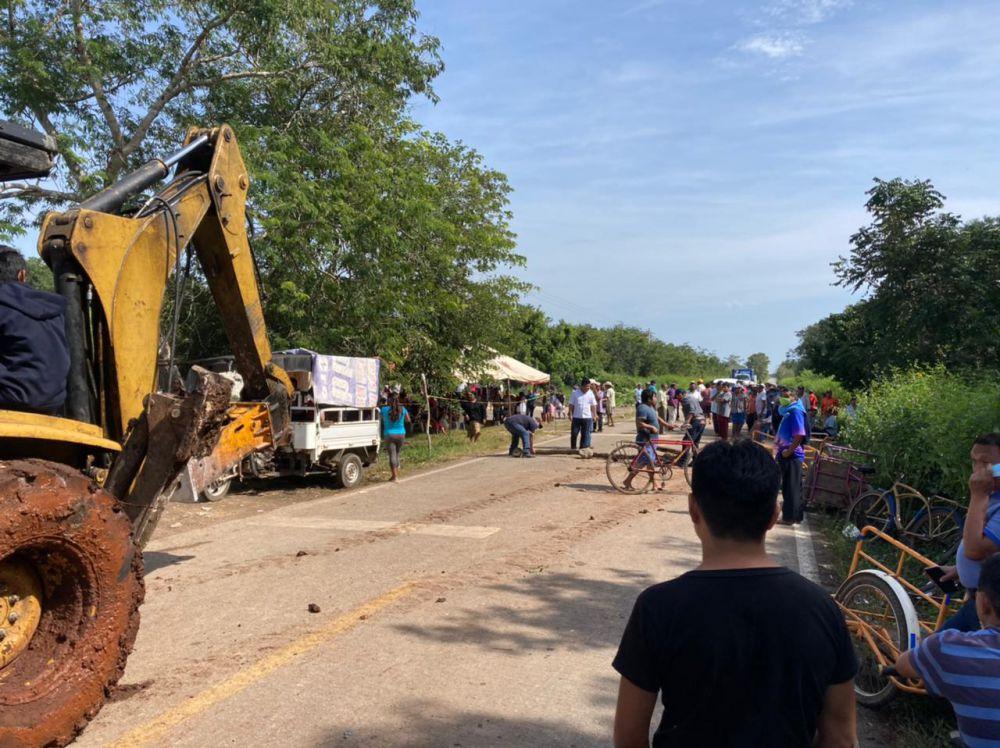 Campesinos de Tihosuco liberan carretera Felipe Carrillo Puerto–Valladolid; Tribunal Agrario se compromete a poner fin a conflicto con la SCT.