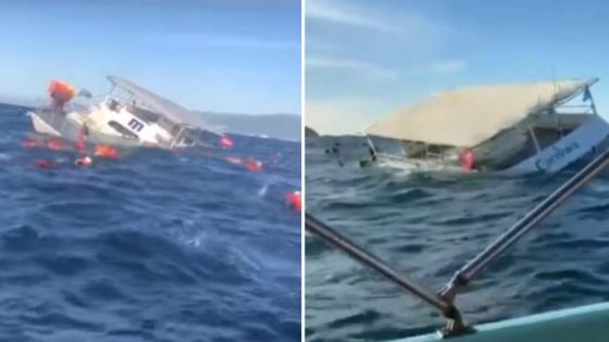 Video: Se hunde embarcación con 60 turistas.
