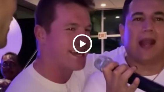 """Graban a Canelo Álvarez cantando """"El Rey""""; aquí el video"""