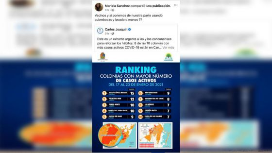 Preocupación en colonias populares de Cancún por avance de covid-19