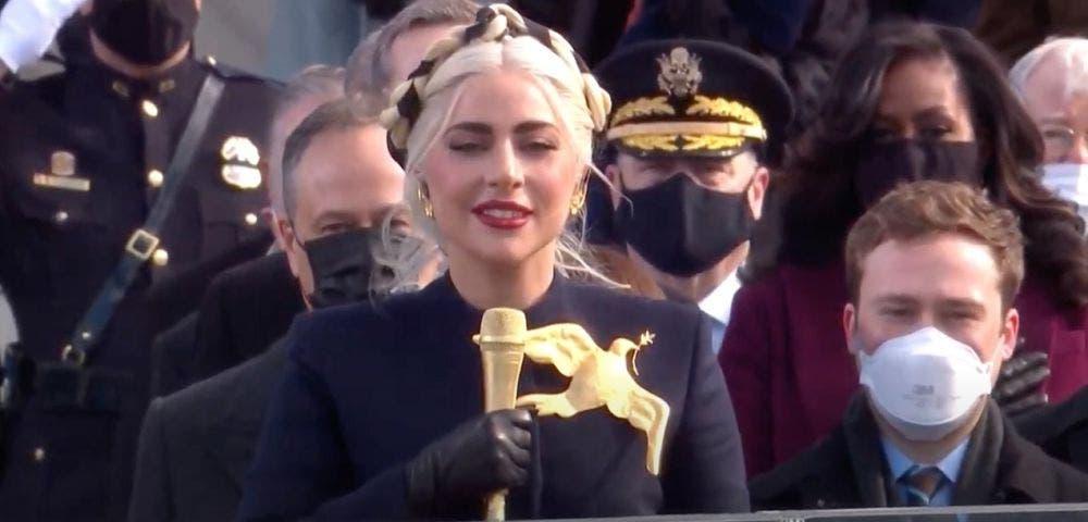 Presentación de Lady Gaga en la toma de protesta de Joe Biden