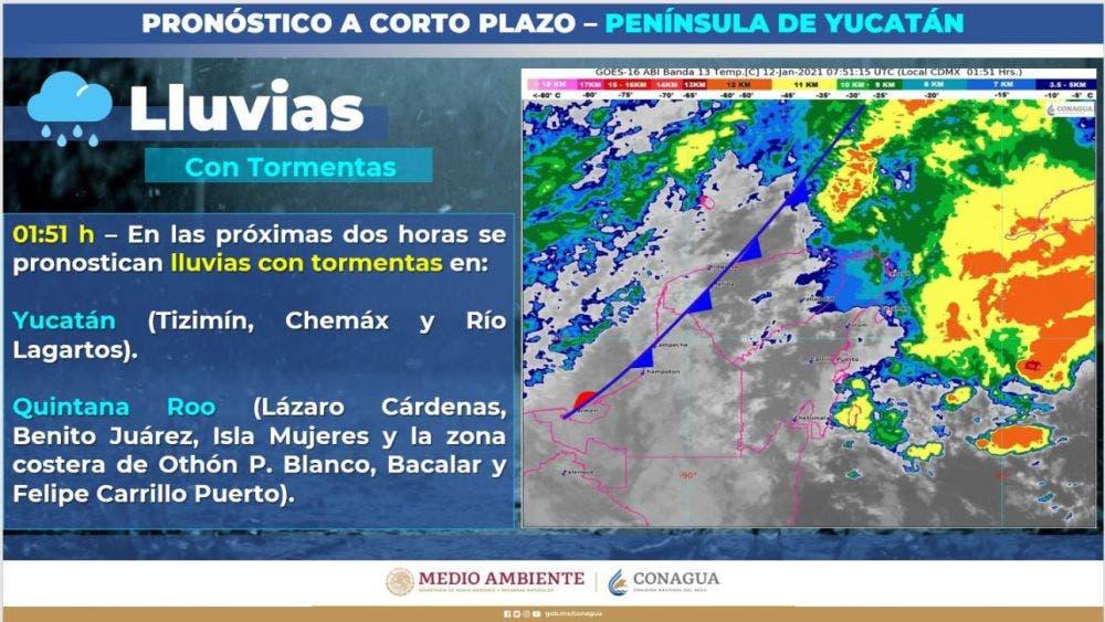 Clima: Continuarán las lluvias fuertes en Quintana Roo.