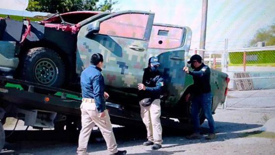 Aseguran en Tamaulipas camioneta similar a las patrullas que usa la Sedena