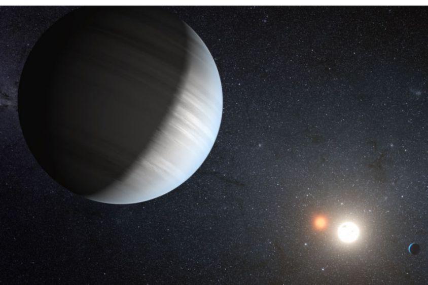 Descubre la NASA un planeta con tres estrellas
