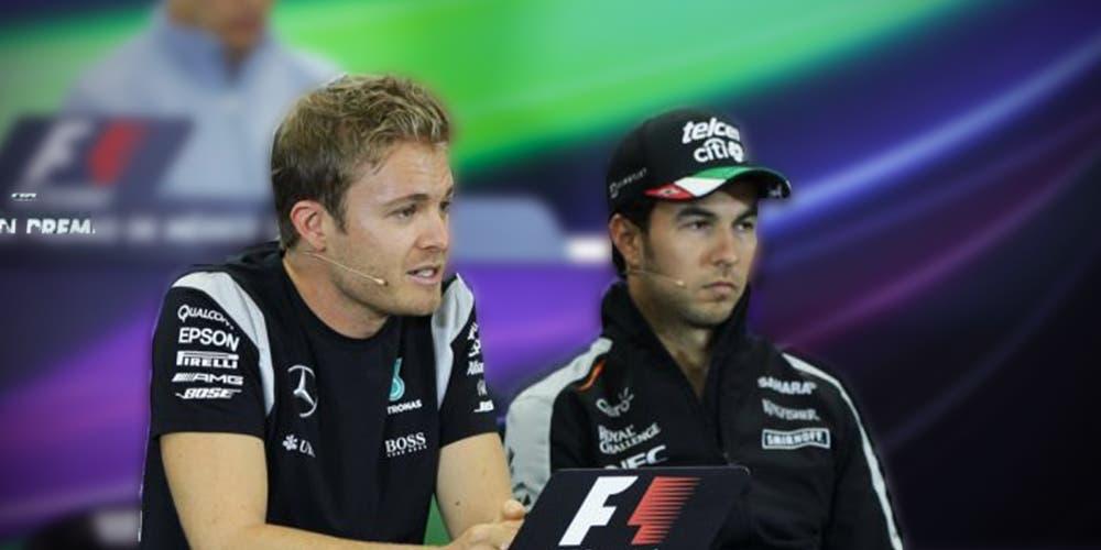 F1: Nico Rosberg apoya a Sergio Pérez en lucha vs Hamilton