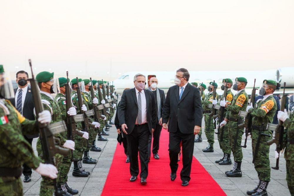 Llega a México el presidente argentino Alberto Fernández