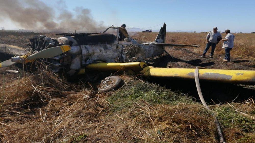 Avioneta se desploma e incendia en Sinaloa