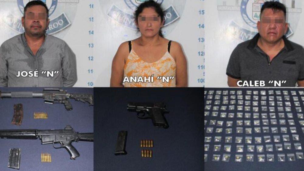 Desarticula Policía Quintana Roo a banda de narcomenudistas en Cancún