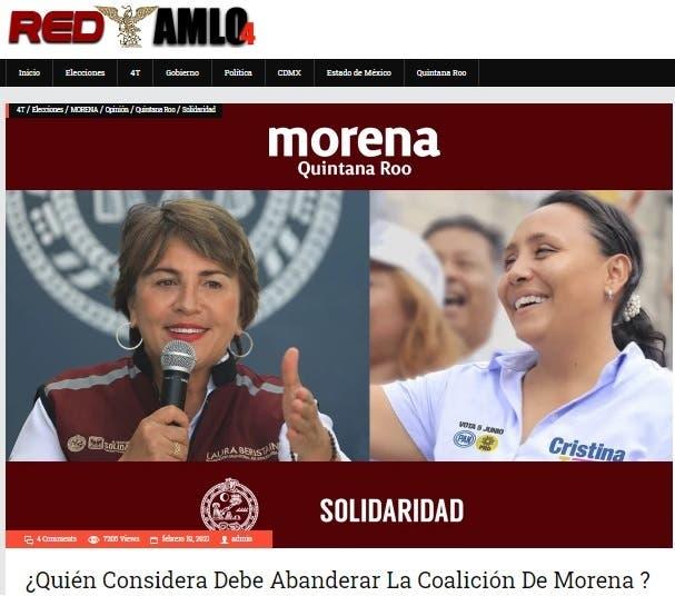 Laura Beristain y Cristina Torres disputan candidatura de Morena en Solidaridad.