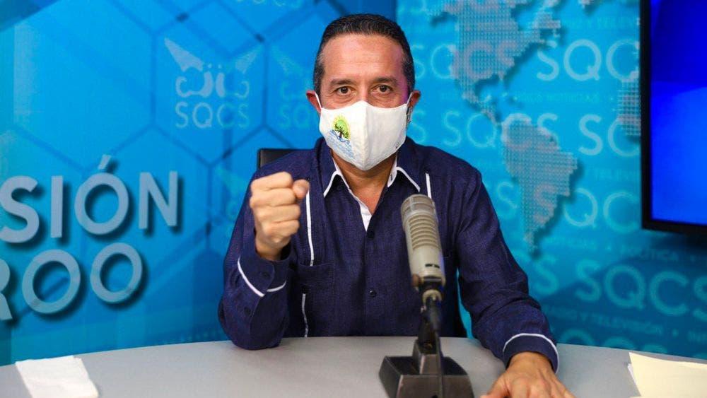 Carlos Joaquín presentó en gráficas el comportamiento de la curva de contagios de la covid-19