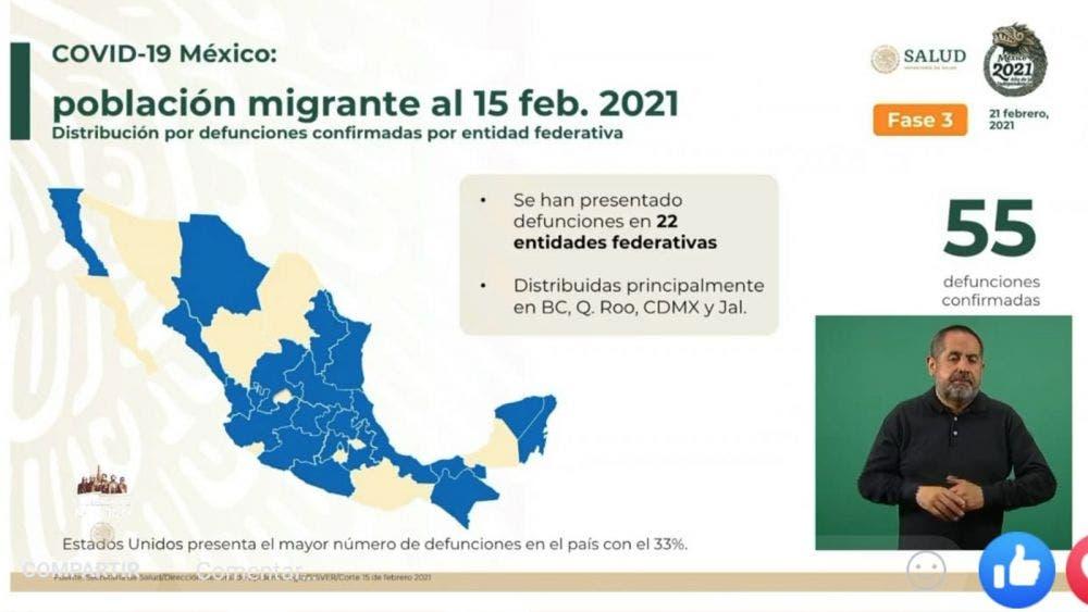 Quintana Roo, a la cabeza en muertes de migrantes por covid-19