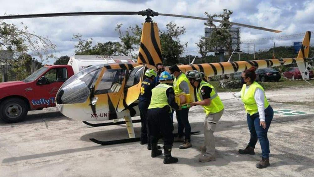 Toma director de protección civil curso de transporte aeromédico