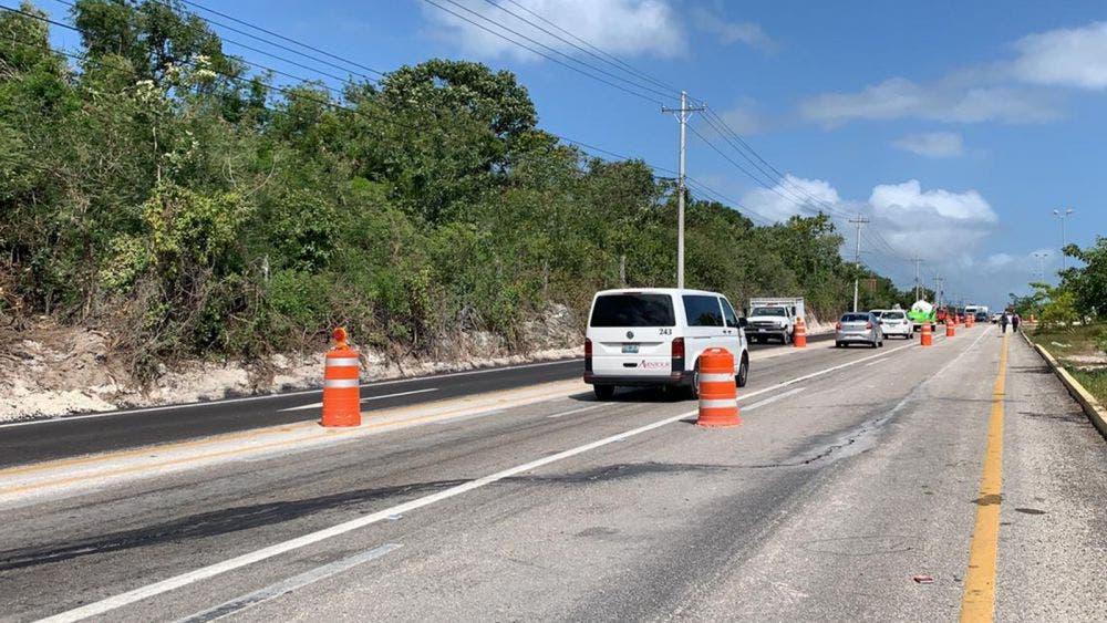 Habilita SCT desvío provisional a Playa del Carmen