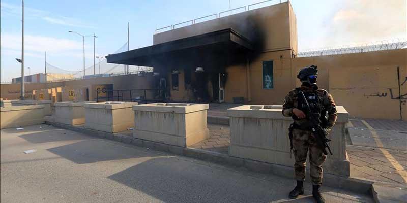 Atacan con cohetes a la embajada de EU en Irak