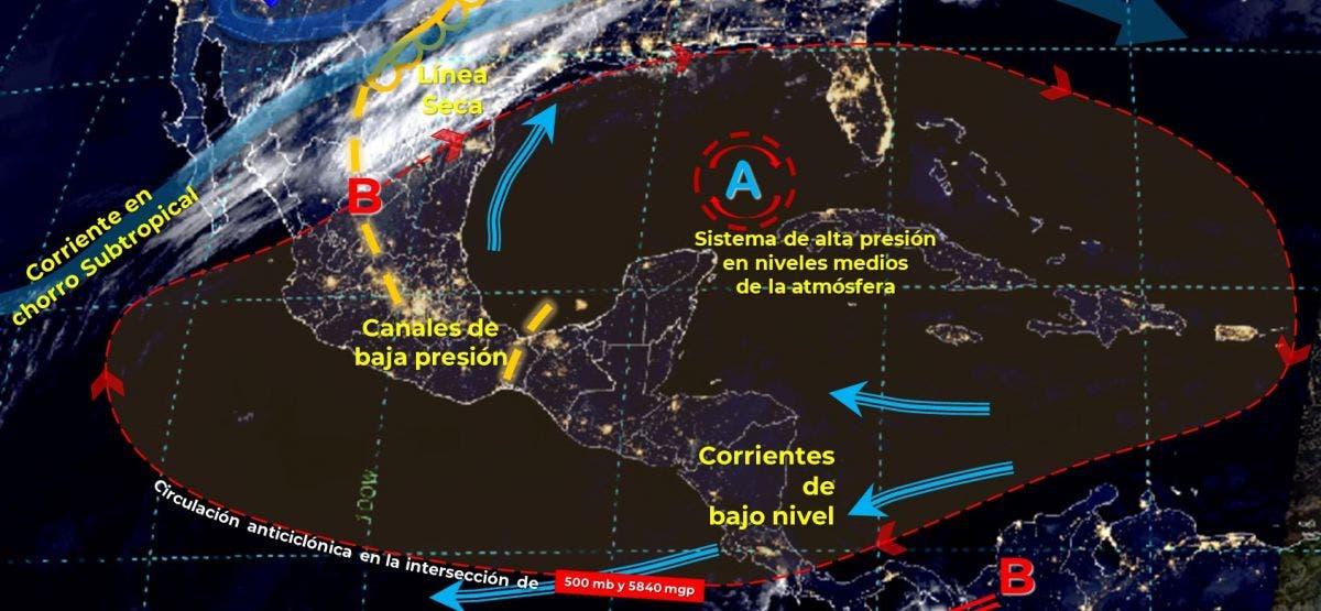 Clima: Bajas probabilidades de lluvias aisladas para Quintana Roo.