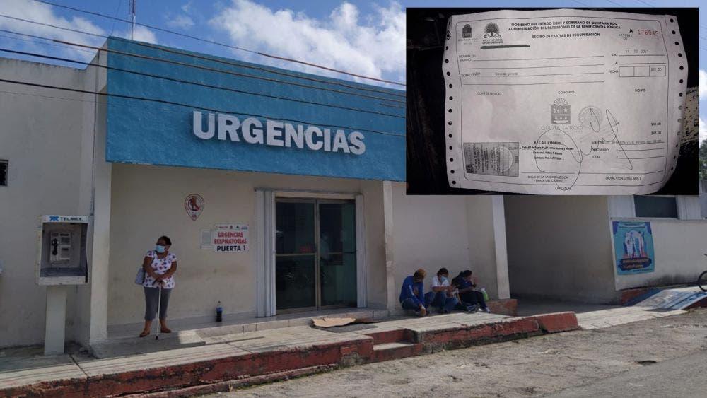 No respeta gratuidad obligatoria Hospital General de Cozumel