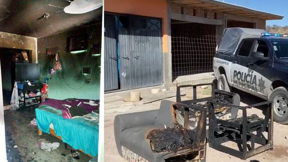 Muere madre e hijo al incendiarse su domicilio en Aguascalientes