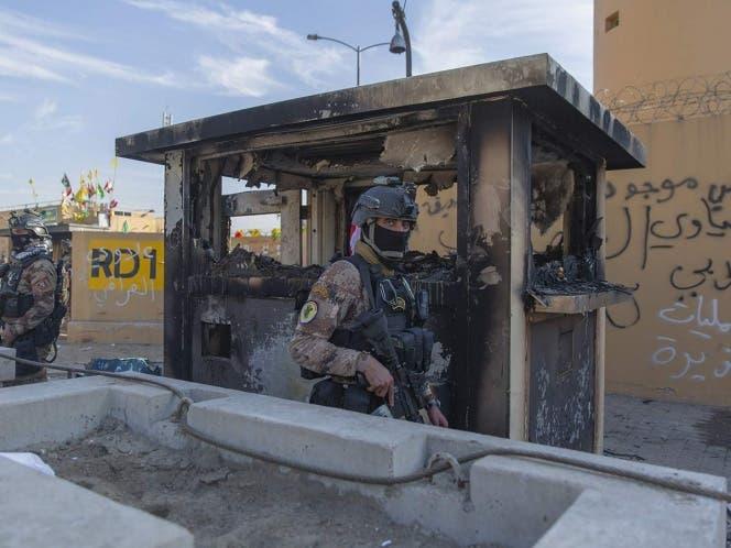 Varios cohetes fueron lanzados contra la embajada de Estados Unidos en Bagdad, en el tercer ataque contra intereses occidentales en Irak.
