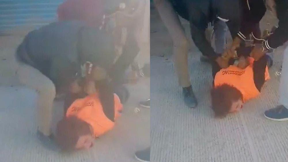 "Golpean a presunto ladrón en Oaxaca: ""No vuelvo a robar"", grita desesperado"