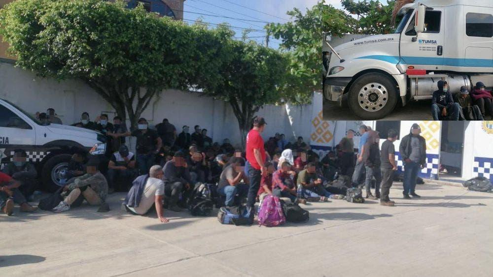 Abandonan a 223 migrantes en un camión de carga