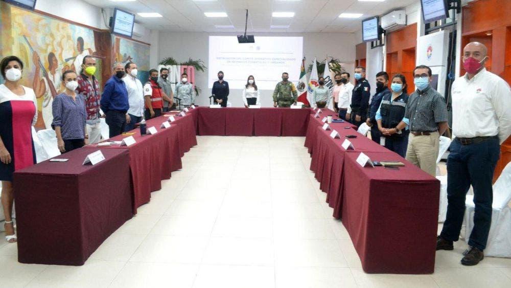 Trabajo coordinado en Cancún para combate y control de incendios forestales