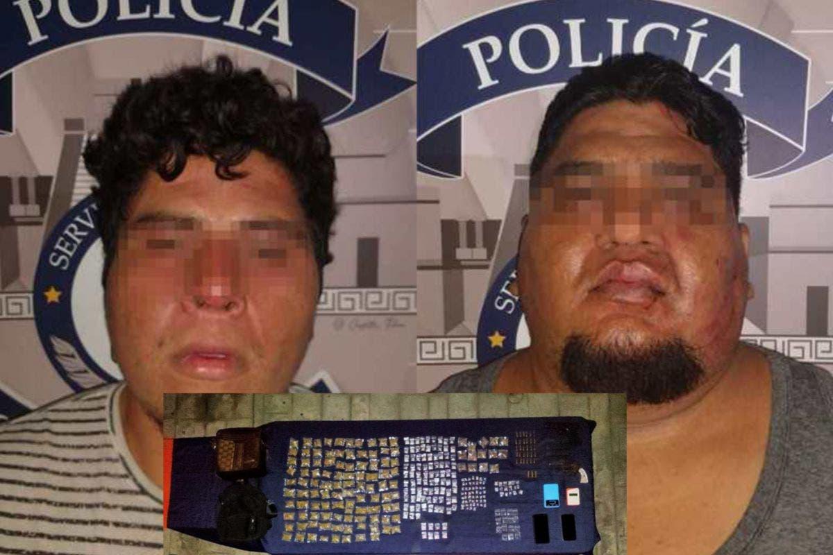 Captura policía de Tulum a dos narcomenudistas armados