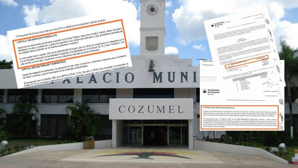 Infla pedro Joaquín nómina de Cozumel hasta en 17 millones de pesos
