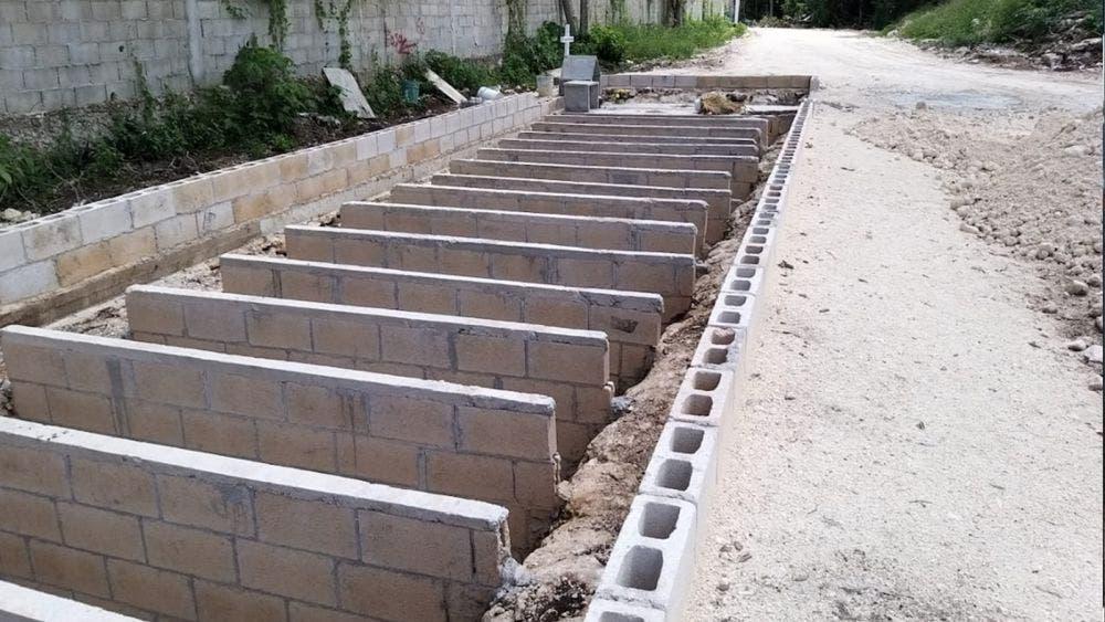 Ampliación del panteón municipal de Cozumel, obra inconclusa