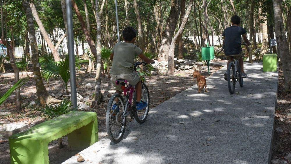 Mejora gobierno de Puerto Morelos el parque Punta Corcho, pulmón verde del municipio