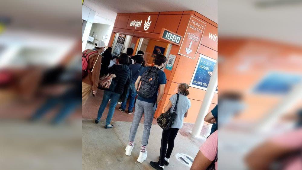 Video: Winjet deja varados en Cozumel a usuarios con boletos comprados